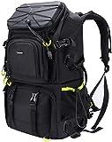 Endurax Kamerarucksack Gross mit Laptopfach 15,6' für 2 DSLR 4 Objektive mit Regenschutzhülle und Stativhalterung gut für Tekking Wander Outdoor