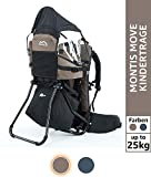 Montis Move Kraxe Kindertrage bis 25kg Kinder-Gewicht mit vielen Extras sowie Erweiterungen - geringes Eigengewicht, passend für beide Elternteile - geeignet als Einstieger Rückentrage, BRAUN