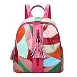 Lvguang Damen Rucksack Mini Kunstleder Backpack Wasserdicht Reiserucksack Outdoor Wanderrucksacke jugendliche mädchen Rucksack Schultasche (Pink)