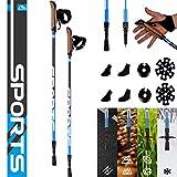MSPORTS Nordic Walking Stöcke Premium inkl. Tasche - hochwertige Qualität - Superleicht - Walking Sticks