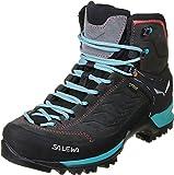 Salewa WS Mountain Trainer Mid Gore-TEX Damen Trekking- & Wanderstiefel, Grau (Magnet/Viridian Green), 38 EU