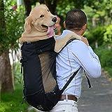 XuBa Hundetasche Hundetasche für große mittelgroße kleine Hunde Atmungsaktiv Reisetasche für Reiten, Wandern, Schwarz, Large