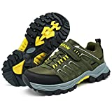 VITIKE Trekking-& Wanderhalbschuhe Kinder Trekking Schuhe Jungen Mädchen rutschfeste Outdoor Sneaker Wanderschuhe Outdoorschuhe,Grün,34 EU