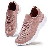 Damen Walkingschuhe Turnschuhe Laufschuhe Sportschuhe Fitness Sneakers Trainers für Running Outdoor Schuhe Pink 39 EU