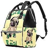 Yuelai Windel Tasche Rucksack Laptop Rucksack Reise Daypack für Damen, Hundeschuhe Eiscreme
